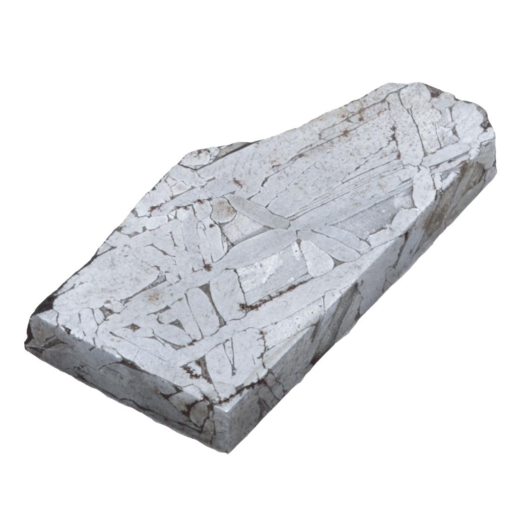 Zdjęcie przedstawia żelazny meteoryt Toluca pochodzący z Meksyku